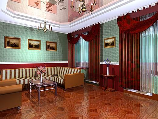 Зал спальня интерьер фото